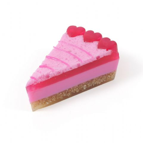 Raspberry Rippler Soap Cake Slice - Bath Bubble & Beyond 200g